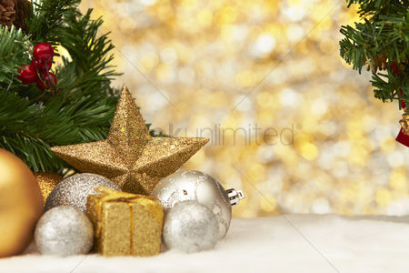 Fruit : Christmas theme decoration with copy space