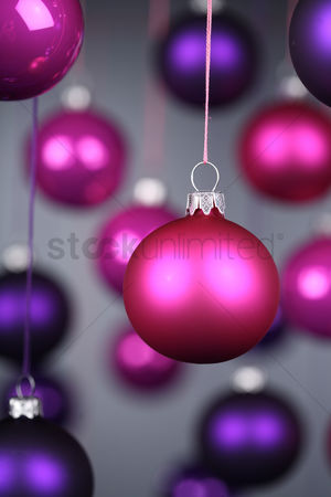 Blue background : Christmass bauble - studio shot