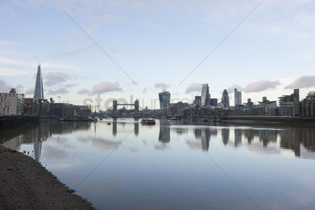 England : City skyline and river thames  london  uk