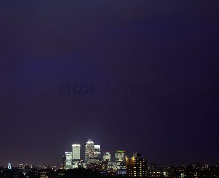 England : City skyline at night