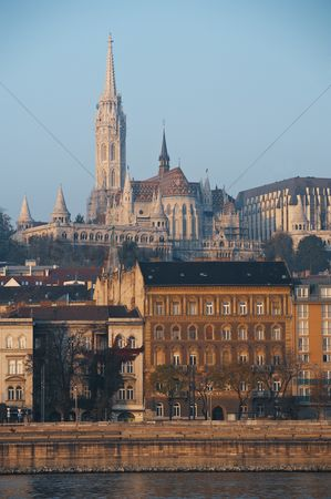 Attraction : Cityscape of the hungarian capital  budapest with the matthias church in the background
