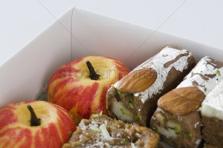 Almond : Close-up of a box of sweets