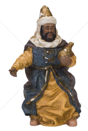 Sculpture : Close-up of a figurine of a king