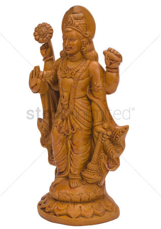 God : Close-up of a figurine of lord vishnu