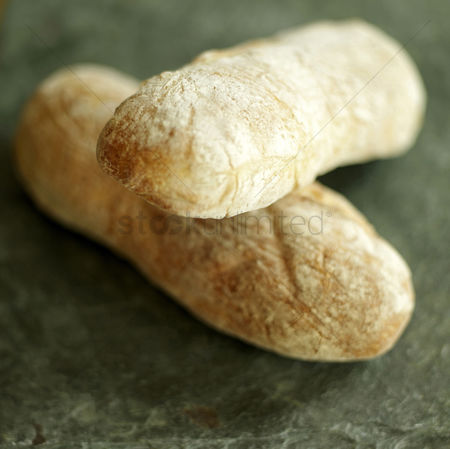 Refreshment : Close up of ciabatta crock on table