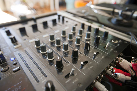 Dance : Close-up of dj mixer