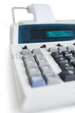 Technology background : Close-up of pushbuttons of financial calculator