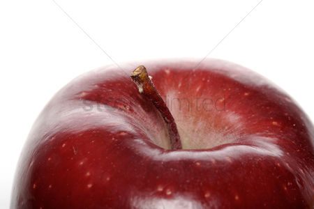 Background abstract : Close-up of red apple on white background