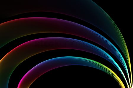 Black background : Colorful abstract background