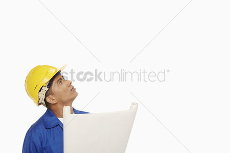 Masculinity : Construction worker looking around