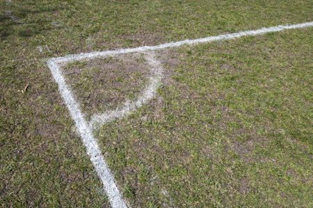 Pitch : Corner of a soccer pitch