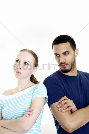 Frowning : Couple after an argument
