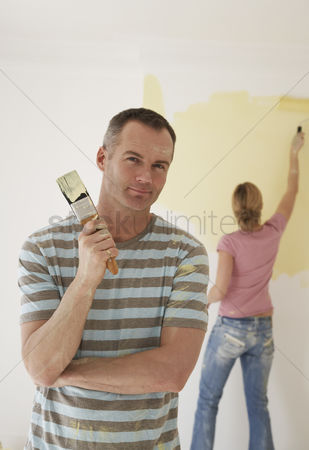 Paint brush : Couple painting room
