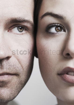 Love : Couple s face close to each other