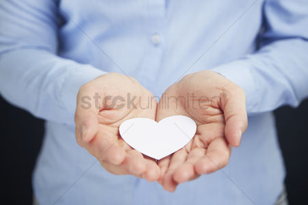 Heart shapes : Cupped hands with a heart