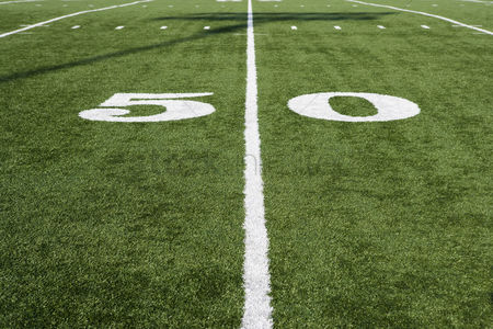 Pitch : Detail of american football field