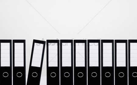 Conceptual : Documents standing in a row