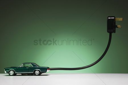 Car : Electric vehicle and plug