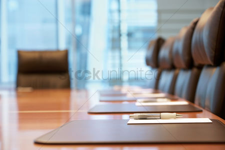Furniture : Empty conference room before meeting