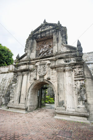 Sculpture : Entrance to fort santiago in the intramuros manila philippines