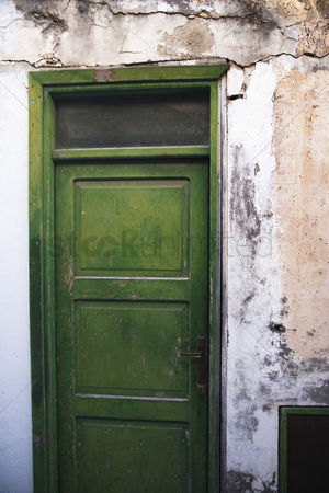 Weathered : Facade of an old building  ponza  province of latina  lazio  italy