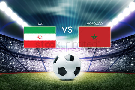 Iran : Football competition between iran and morocco