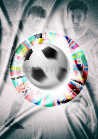 Croatia : Football with abstract design