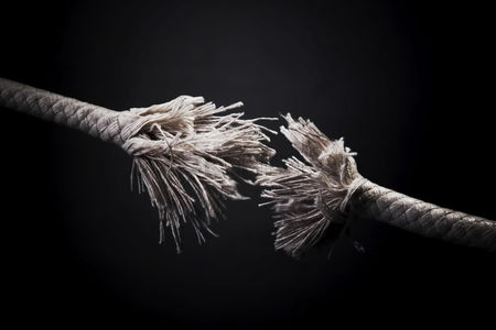 Conceptual : Fraying rope