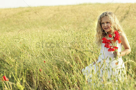 Smile : Girl with flower