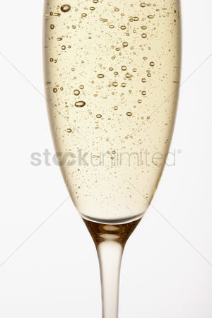 Celebration : Glass of champagne close up in studio