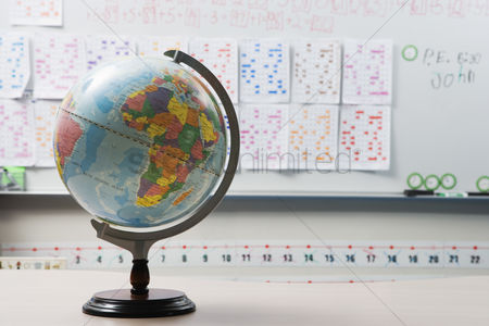 Learning : Globe in elementary classroom