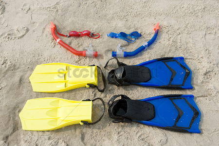 Diving : Goggles snorkel flippers