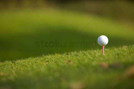 Grass : Golf ball on tee