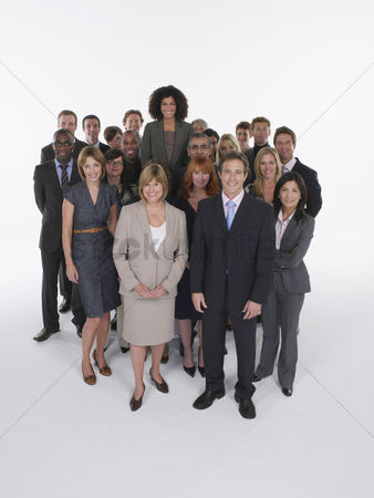 Smiling : Group of businesspeople