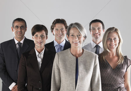 Leadership : Group of smiling businesspeople