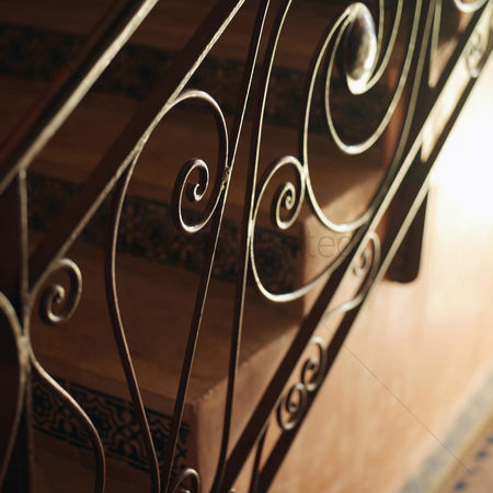 Steps : Guard railing of a staircase