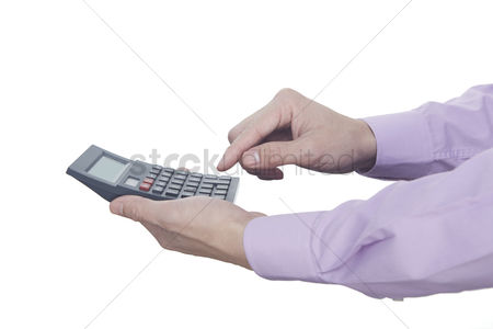 Count : Hand holding a calculator