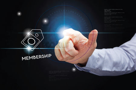Points : Hand pointing with membership concept