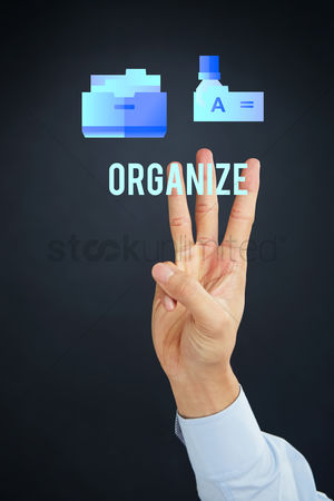 Tidy : Hand presenting business organization concept