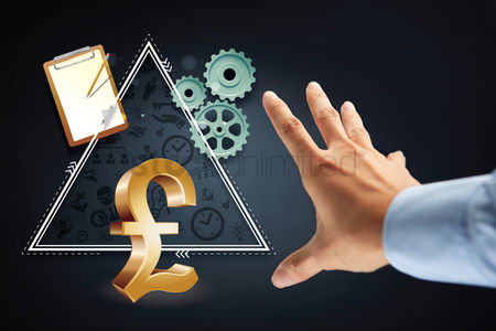 Try : Hand reaching out for pound uk currency symbol