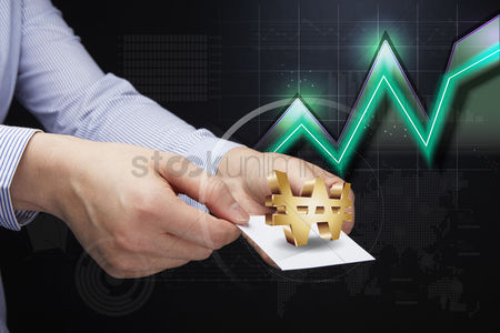 South korea : Hands holding card with won currency symbol