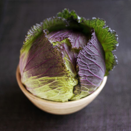 Food  beverage : High angle close up of a cabbage