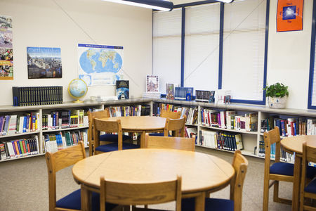 Furniture : High school library reading room