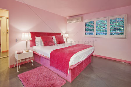 Interior : Interior design of pink bedroom