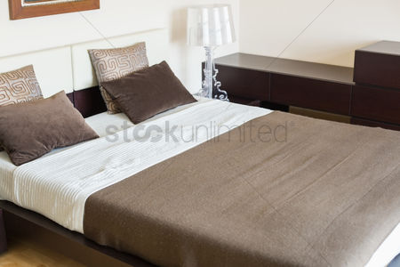 Tidy : Interior of contemporary bedroom