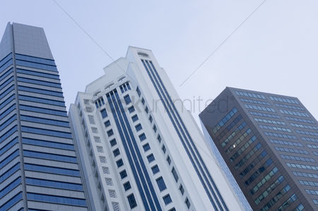 Excited : Low angle view of skyscrapers  singapore