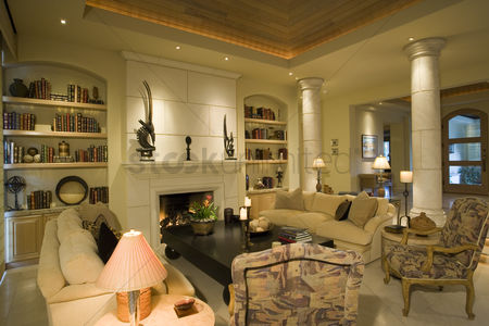 Interior : Luxury interior design living room
