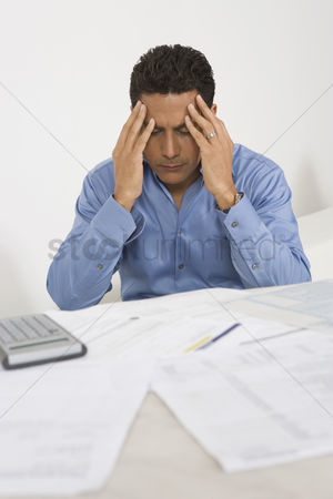Worry : Man anxious over personal finances