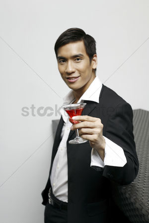 Adulthood : Man enjoying cocktail