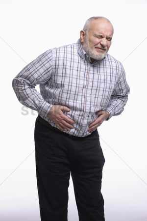 Pain : Man having a stomachache